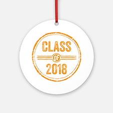 Stamp Class of 2018 Orange Ornament (Round)