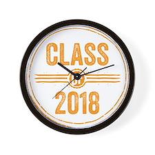 Stamp Class of 2018 Orange Wall Clock
