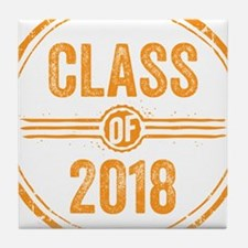 Stamp Class of 2018 Orange Tile Coaster