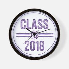 Stamp Class of 2018 Purple Wall Clock