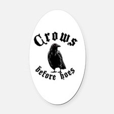 Crows Oval Car Magnet