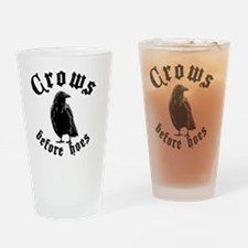 Crows Drinking Glass