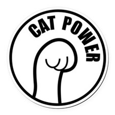 Cat Power Round Car Magnet