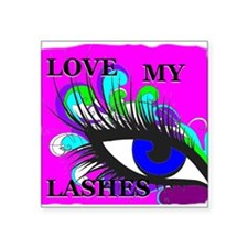Love my lashes in color Sticker