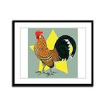 Dutch Bantam Cock Framed Panel Print
