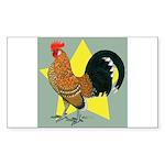 Dutch Bantam Cock Rectangle Sticker