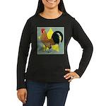 Dutch Bantam Cock Women's Long Sleeve Dark T-Shirt