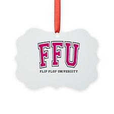 FFU Pink Outline Ornament