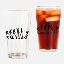 Evolution born to ski Drinking Glass