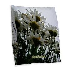 Pushing Daisies Burlap Throw Pillow
