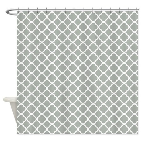 Quatrefoil In Silver Gray Shower Curtain By Admin CP62117368