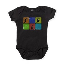 Cute Snowboard Baby Bodysuit