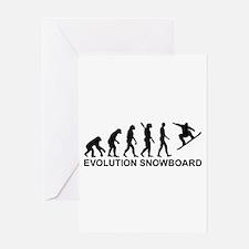 Evolution Snowboarding Snowboard Greeting Card