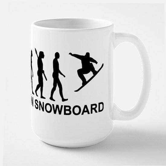 Evolution Snowboarding Snowboard Large Mug