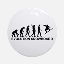 Evolution Snowboarding Snowboard Ornament (Round)