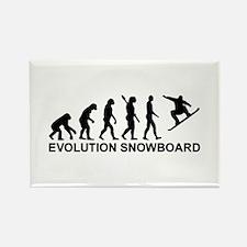 Evolution Snowboarding Snowboard Rectangle Magnet