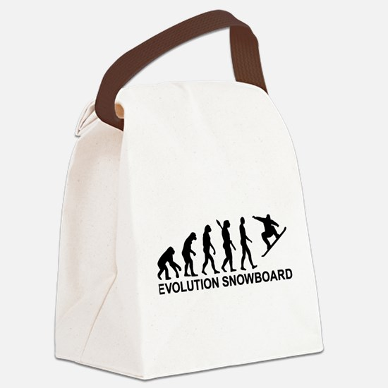Evolution Snowboarding Snowboard Canvas Lunch Bag