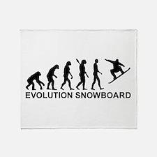 Evolution Snowboarding Snowboard Throw Blanket