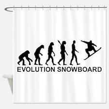 Evolution Snowboarding Snowboard Shower Curtain