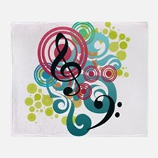 Notes Throw Blanket