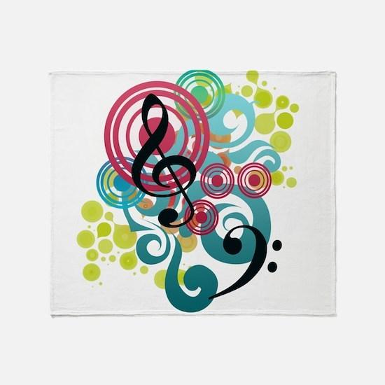 Cute Instruments Throw Blanket