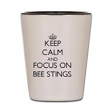 Bee calm Shot Glass