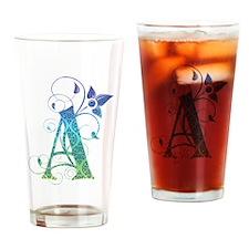 Bohemian Monogram A Drinking Glass