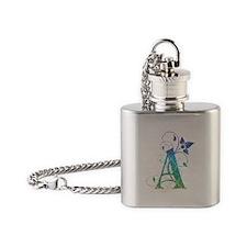 Bohemian Monogram A Flask Necklace