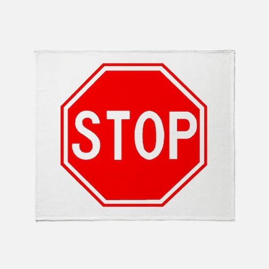 Cute Stop Throw Blanket