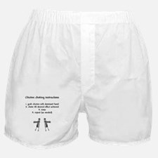 Chicken choking instructions Boxer Shorts