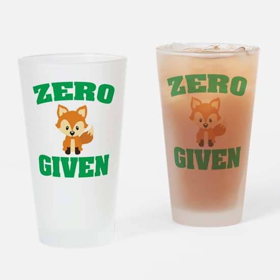 Zero Fox Given Drinking Glass