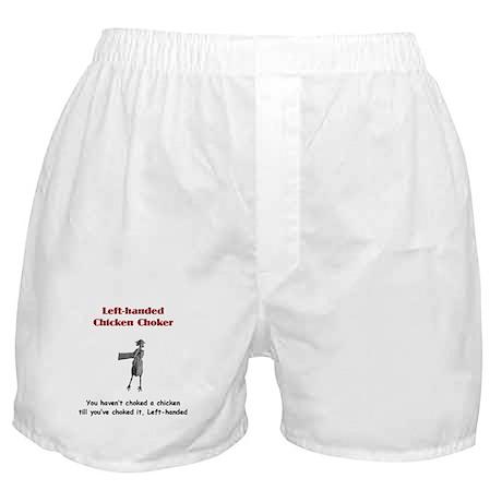 Left-handed Chicken Choker Boxer Shorts
