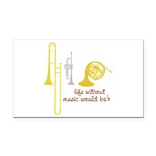 Life Without Music PGbn01117b Rectangle Car Magnet
