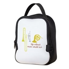 Life Without Music PGbn01117b Neoprene Lunch Bag