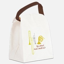 Life Without Music PGbn01117b Canvas Lunch Bag