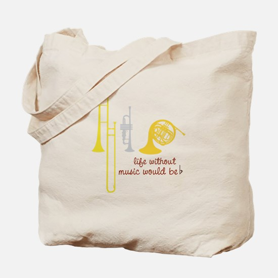 Life Without Music PGbn01117b Tote Bag