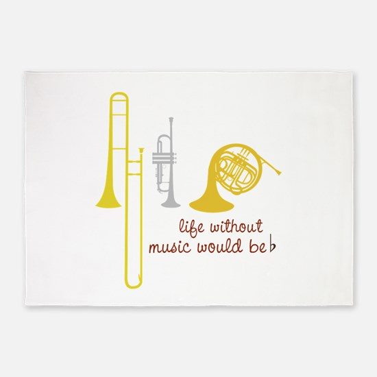 Life Without Music PGbn01117b 5'x7'Area Rug
