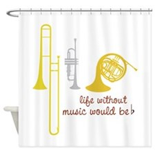 Life Without Music PGbn01117b Shower Curtain