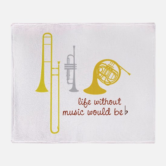 Life Without Music PGbn01117b Throw Blanket