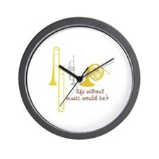 Life Without Music PGbn01117b Wall Clock
