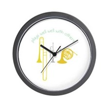 Plays Well Wall Clock