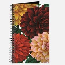 modern vintage fall dahlia flowers Journal