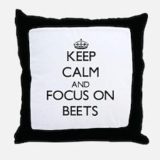Cute Bee calm Throw Pillow