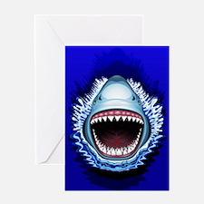 Shark Jaws Attack Greeting Cards
