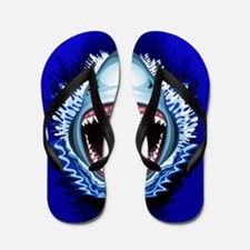 Shark Jaws Attack Flip Flops