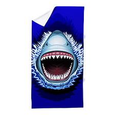 Shark Jaws Attack Beach Towel