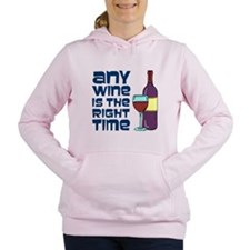 Any Wine Right Time Women's Hooded Sweatshirt