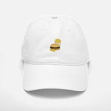 Burger and Fries Baseball Baseball Baseball Cap