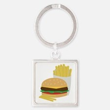 Burger and Fries Keychains