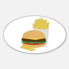 Burger and Fries Decal
